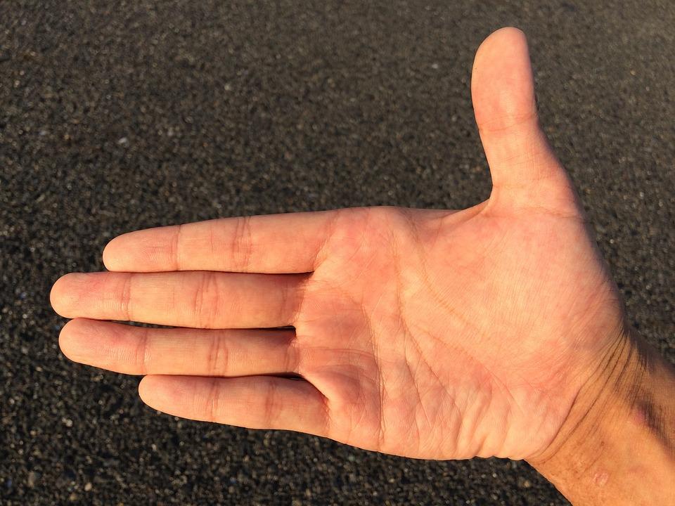 geometria das mãos