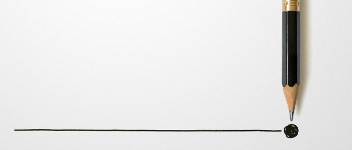 Fechamento de ponto: Lápis traçando linha.