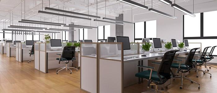Escritório de empresa sem funcionários pela adoção do home office